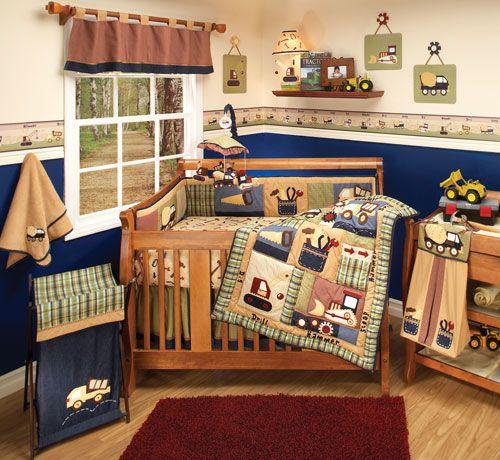 Little Builder Crib Bedding By Ed