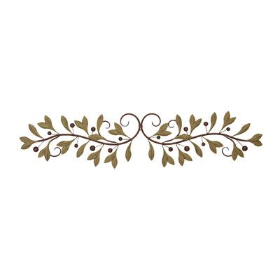 Cole Amp Grey Metal Leaf Scroll Wall D Eacute Cor Above Tv In