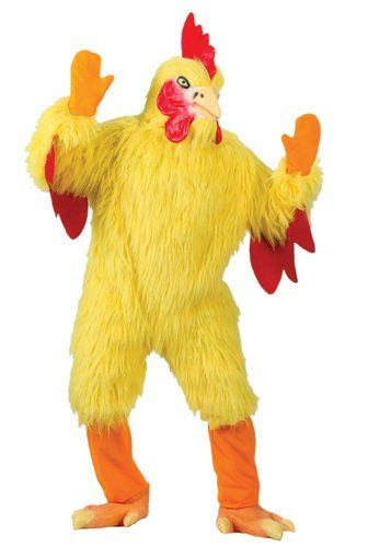 Chicken Costume Mascot Deluxe Cosplay Animal Funny Humorous Unisex Fast