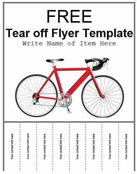 Tear Off Flyer Template Word Luxury 8 Free Sample Tear F