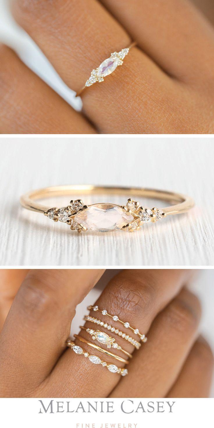 Moonstone Eyelet Ring