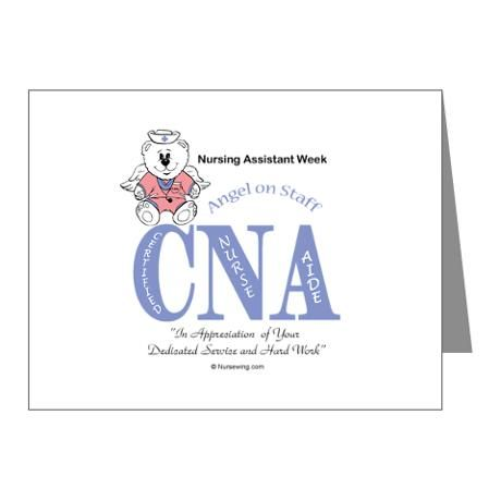 Nursing Assistant Week Note Cards (Pk of 10) AOS Certified nurse - Nursing Assistant Job Description