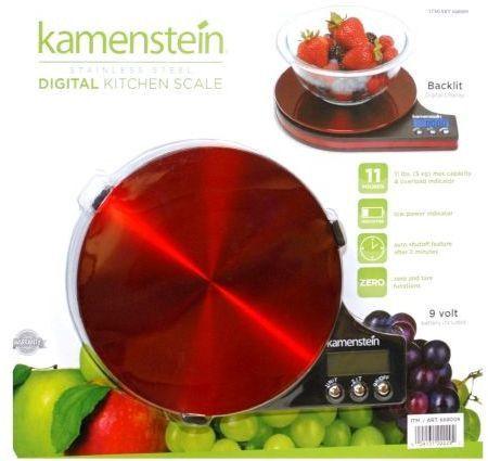 kamenstein digital kitchen scale 11lb red
