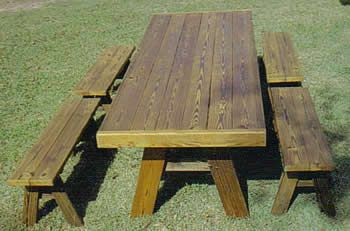 Heavy Duty Picnic Table With 4 Ft Separate Benches