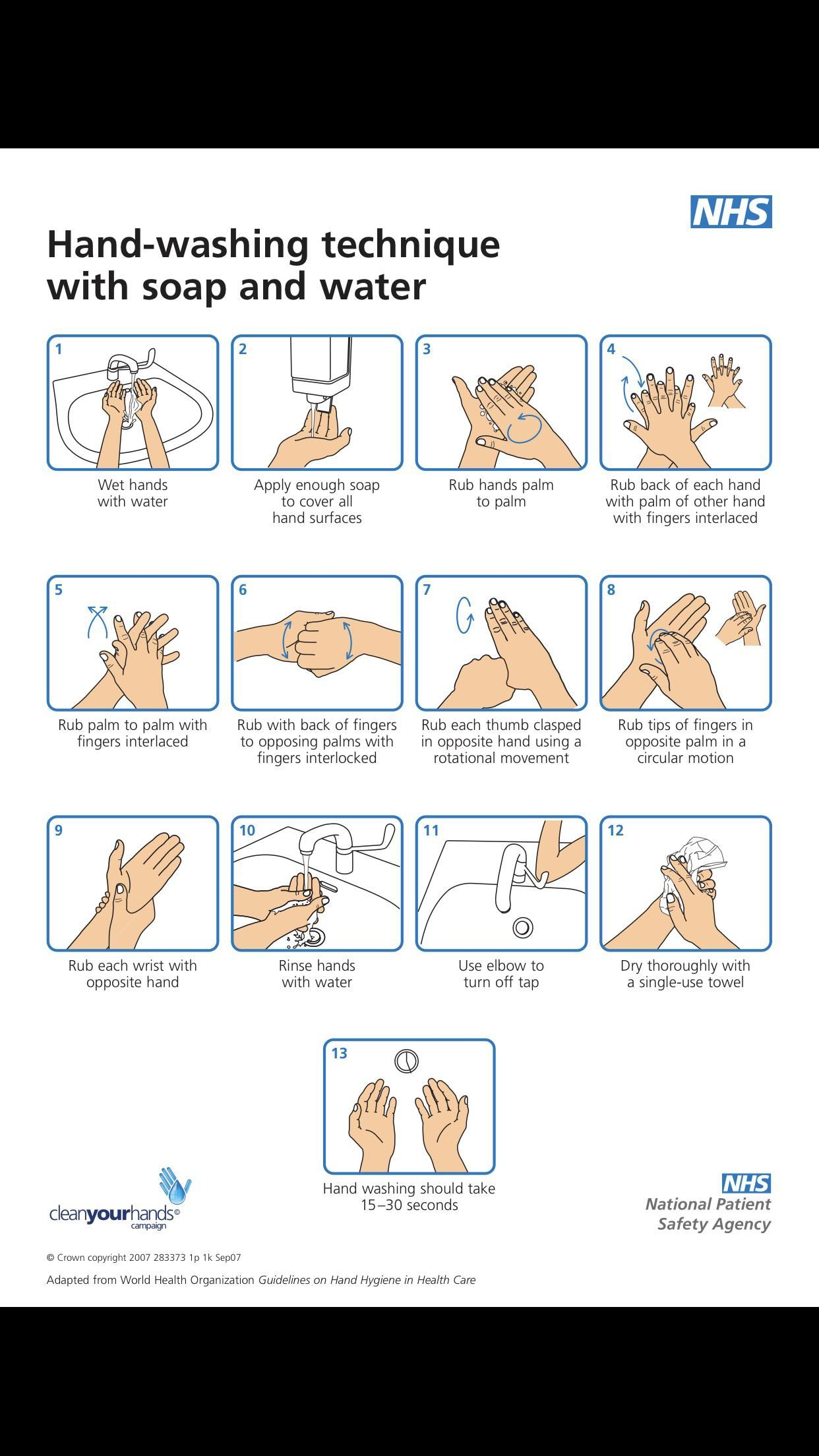 Hand Washing Hand Washing Poster Health Quotes Must Tool