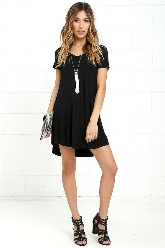 457bb7c7f The Better Together Black Shirt Dress is a number that is sure to beckon  you from