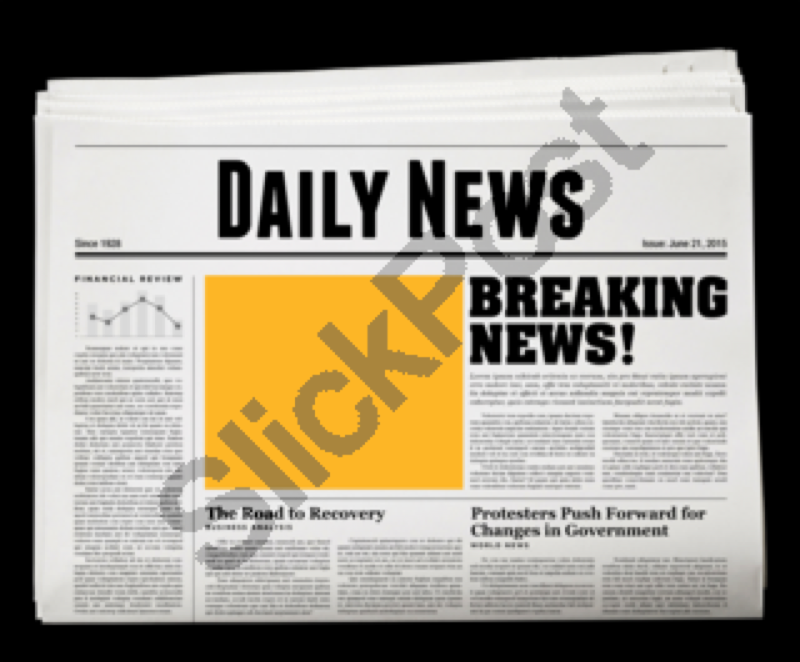 Newspaper News Paper Breaking Article Cover Blank Isolated Daily Headline Press Page Header Background Journal Media Fin Business Communication Newspaper Words