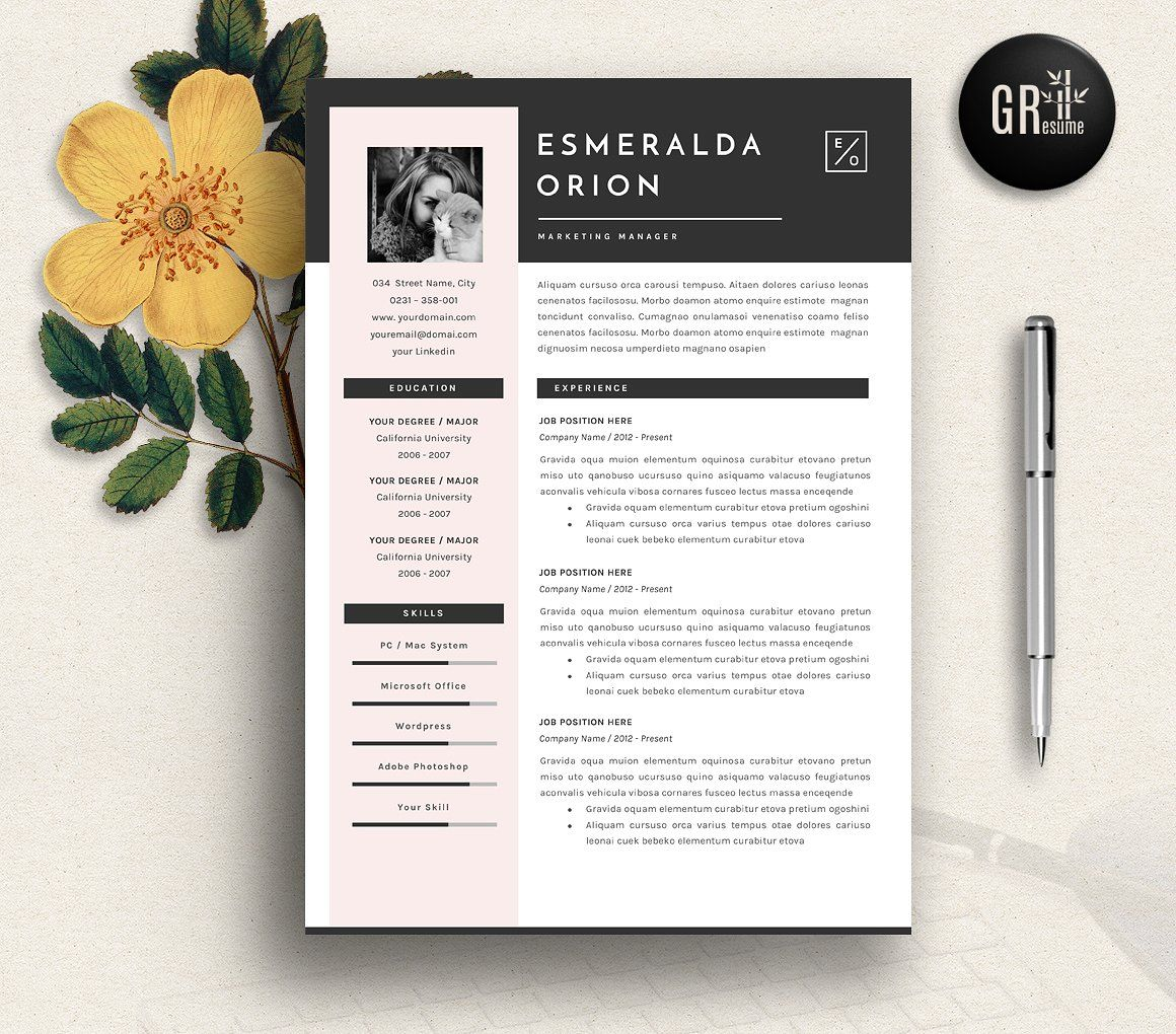50 creative resume templates you won u0026 39 t believe are microsoft word