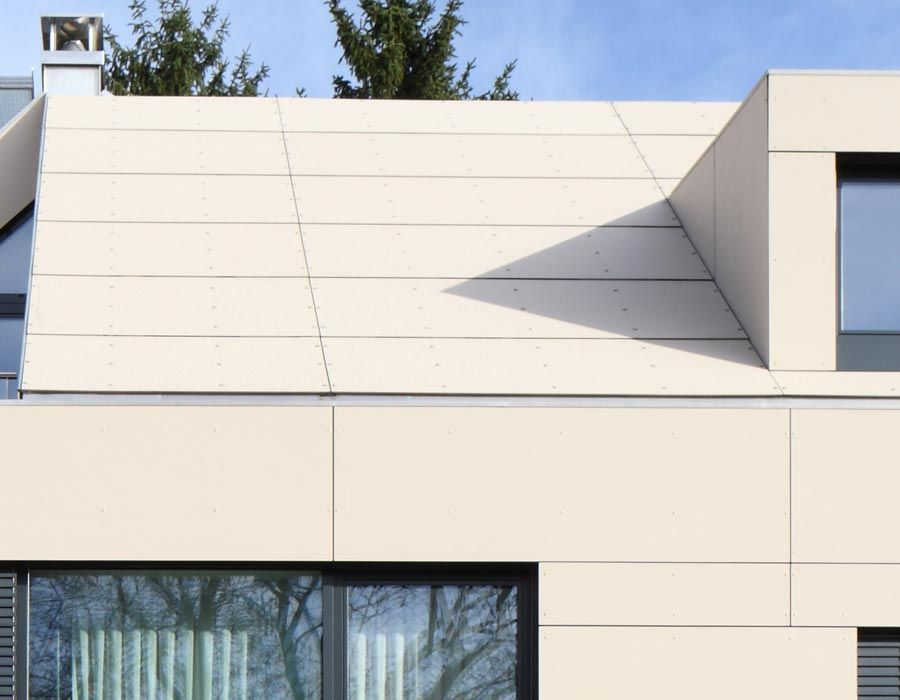 Monolothic effect: roof and facade executed with EQUITONE ...