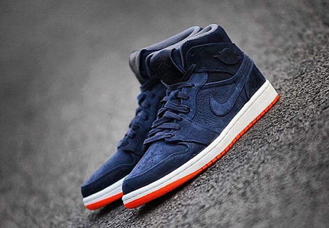 ccffbf9907 Air Jordan 1: Dark Blue & Orange | Kicks | Jordans, Air jordans, Shoes