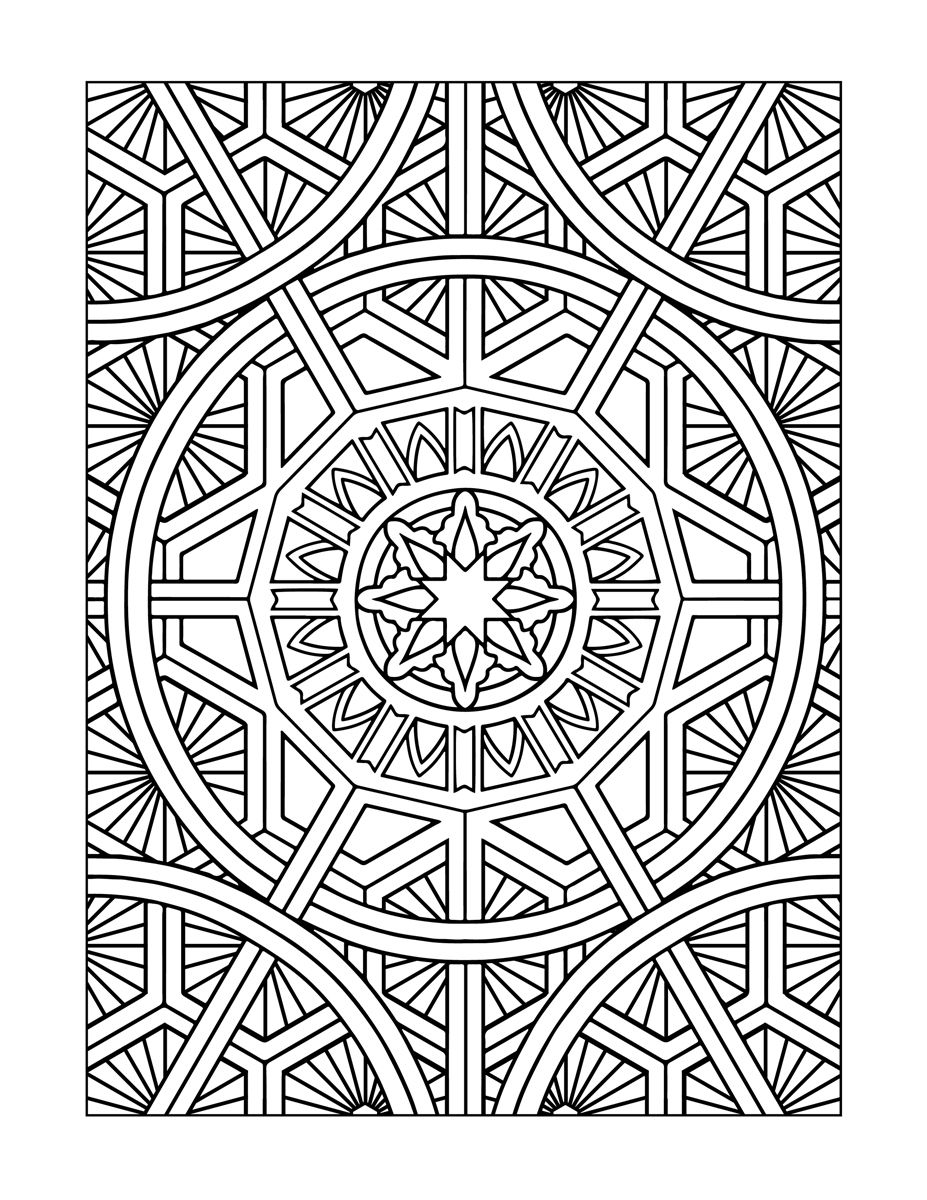 Inspired Modern Art Designs Coloring Book For Grownups Published By Temescal Press Design Mandala Mandala Dessin Mandala