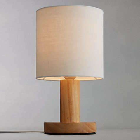 A Pioneering Table Lamp With An Innovative Touch Function Within Wooden Base The Squat Cylindrical Has Square Stem In Middle To Add