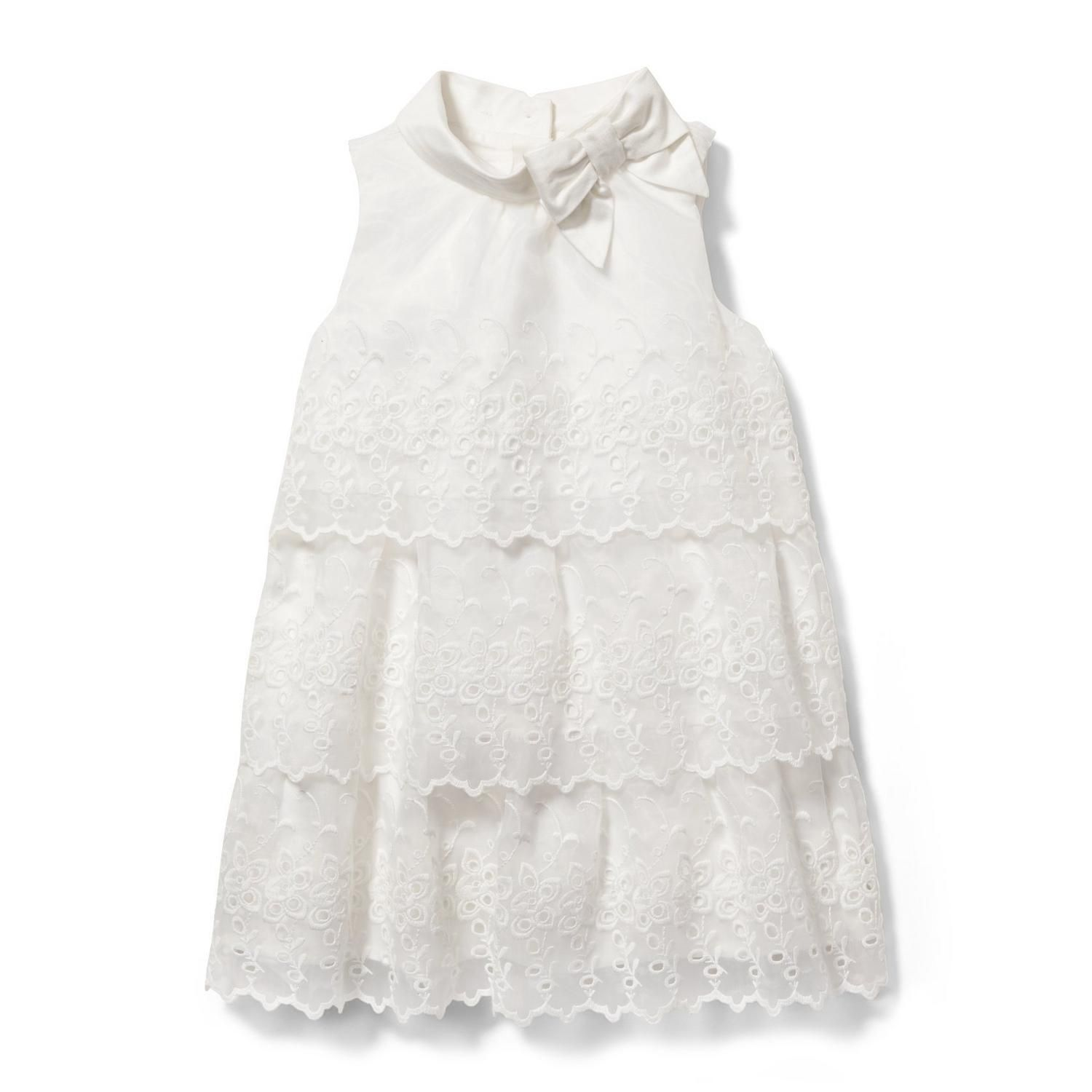 Girl White Eyelet Tiered Dress By Janie And Jack Tiered Dress Girls White Dress Girls Designer Clothes [ 1500 x 1500 Pixel ]