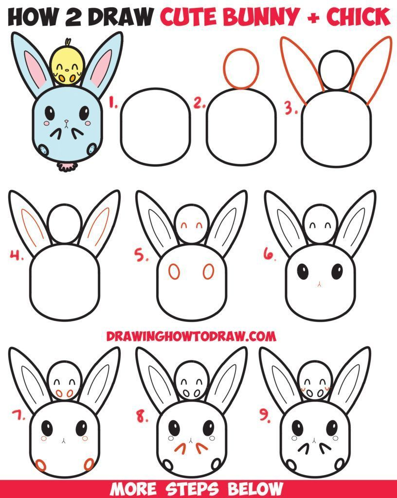 How To Draw Bunny Rabbits DIY Art Projects