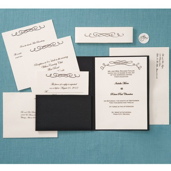 DIY Wedding Invitations With Calligraphy Style
