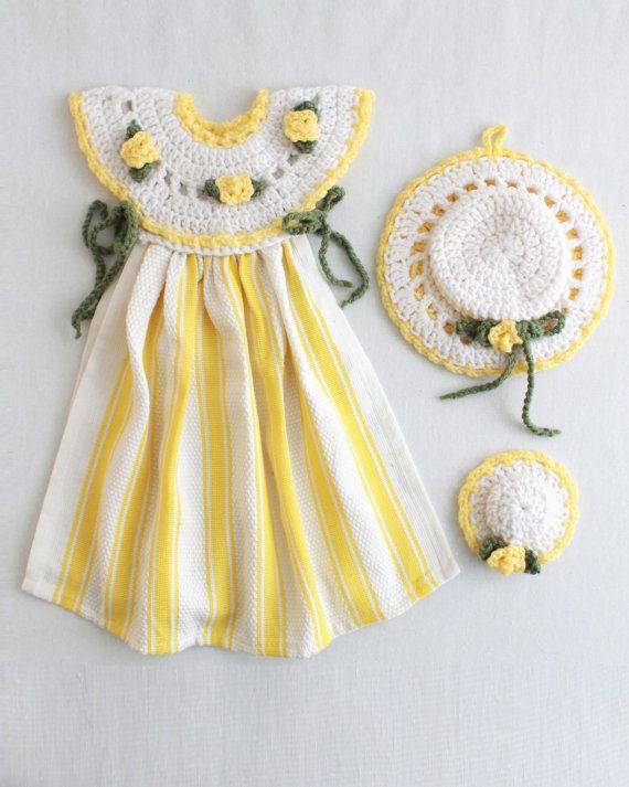 Yellow Rose Oven Door Dress Crochet Pattern PDF   BAÑO   Pinterest ...