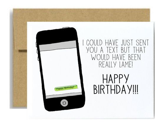 Funny happy birthday card iphone text message by littlesloth funny happy birthday card iphone text message by littlesloth 400 bookmarktalkfo Choice Image