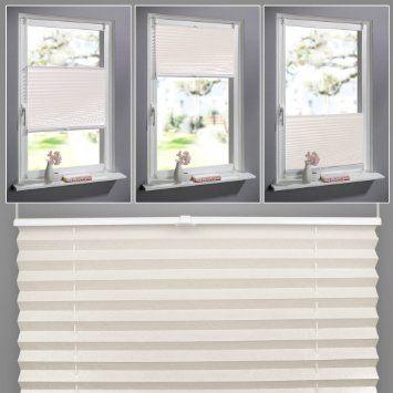 SHINY HOME® Faltrollo Rollo Sonnenschutzrollo Klemmfix ohne Bohren - vorhänge blickdicht schlafzimmer