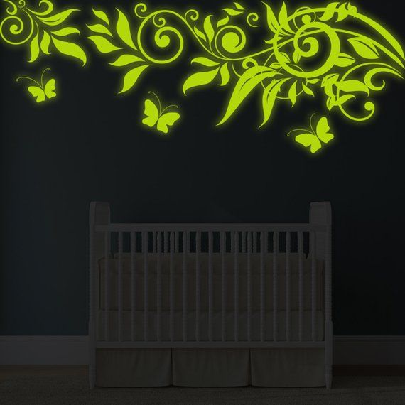 glow at night decal branch wall sticker - glowing vinyl in dark