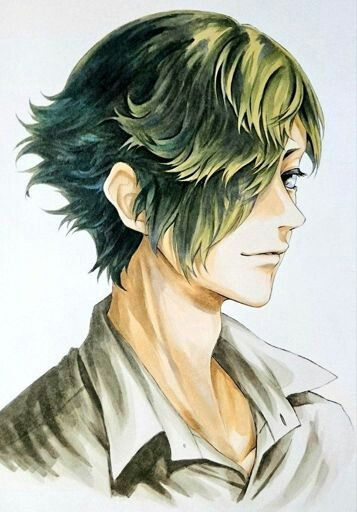 Anime Male Portrait Green Hair Anime Green Hair Anime Boy Sketch Anime Boy