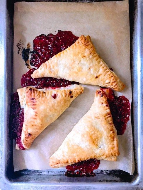 Fresh Raspberry Puff Pastry Turnovers | Sip Bite Go