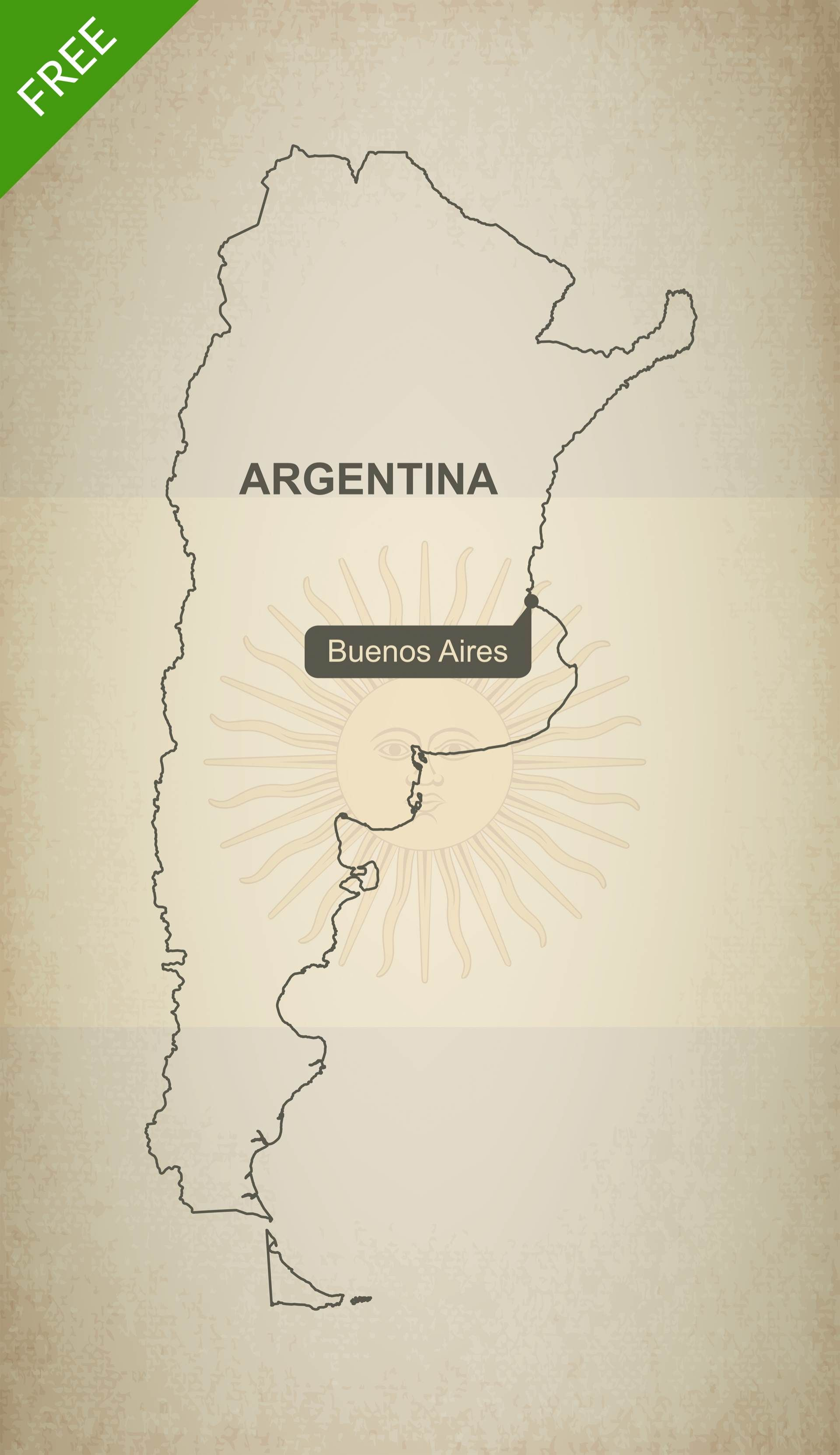 Cyprus Map Vector%0A Free Vector Map of Argentina Outline