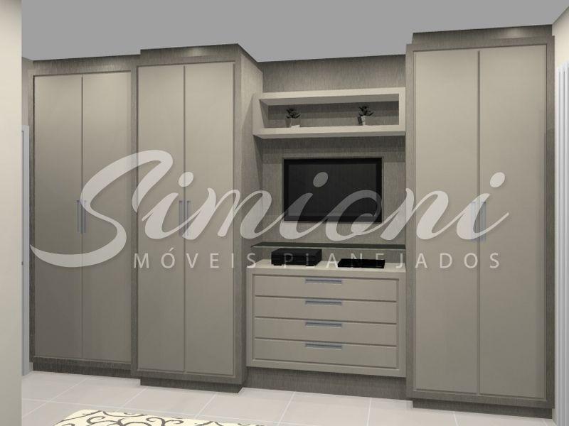 Adesivo De Lidocaina ~ Roupeiro com tv embutida Simioni Móveis Planejados sob medida cozinhas closet armarios banheiros
