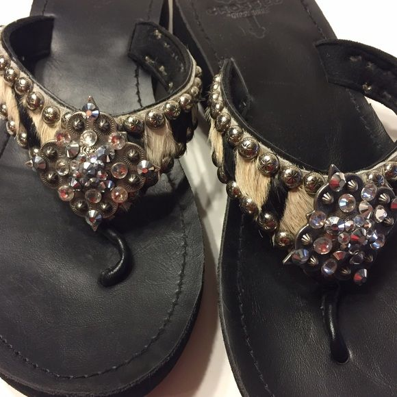 Crossed by Gypsy Soule Sandals Crossed by Gypsy Soule Sandals, barley worn! Crossed by Gypsy Soule Shoes Sandals