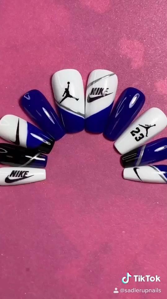 Nike Jordan Press On Nails!