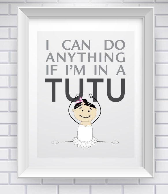Tutu Power! How Cute For A Kids Room? .....or