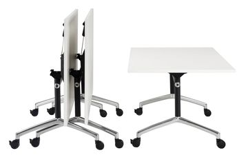 Multi Use Office Folding Training Tables Mobile Flip Top