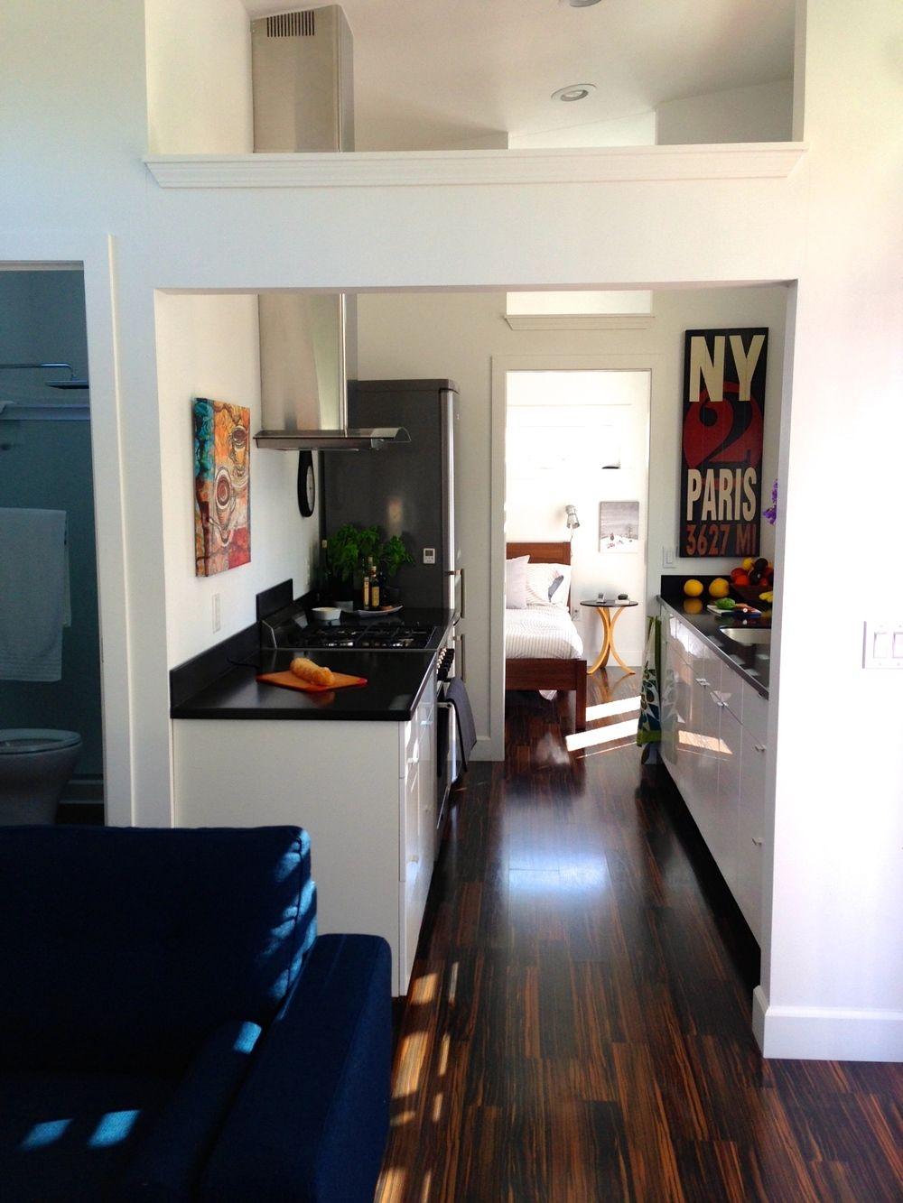 Ideabox Northwest 560ft Prefab Home. Kitchen and bathroom ...