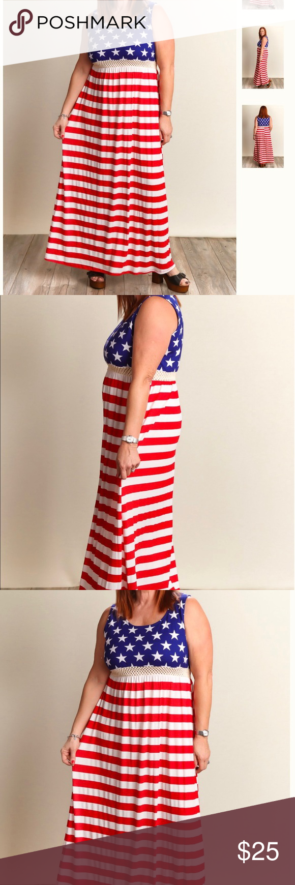 Plus Size 4th Of July Maxi Dress Printed Maxi Dress Clothes Design Printed Maxi [ 1740 x 580 Pixel ]