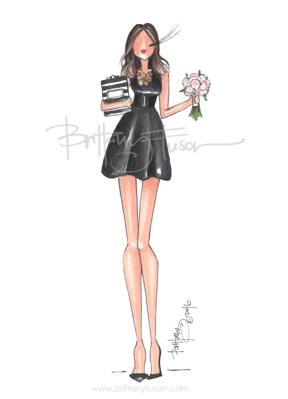 Weddings wedding planning fashion illustration will you be my