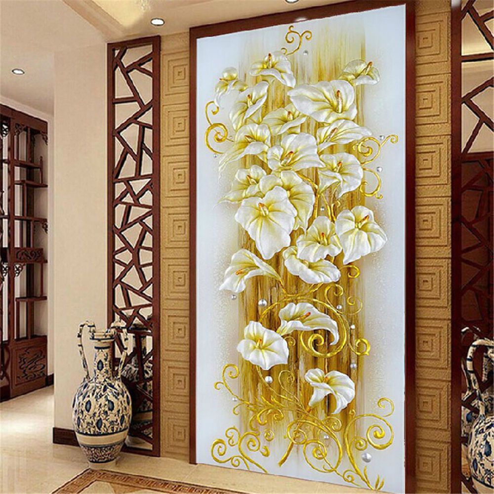 DIY 5D Diamond Embroidery Painting Lily Flower Mosaic Cross Stitch ...
