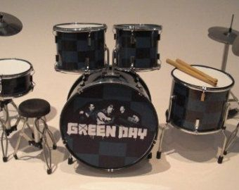 Tre Cool Green Day Miniature Drum Kit Rgm323 Green Day