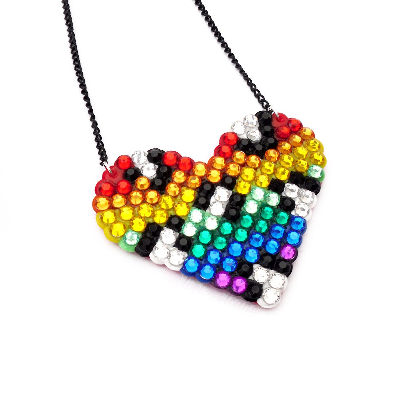 9ffb1f0d39b Rainbow Striped Leopard Wildheart Necklace – VelvetVolcano ...