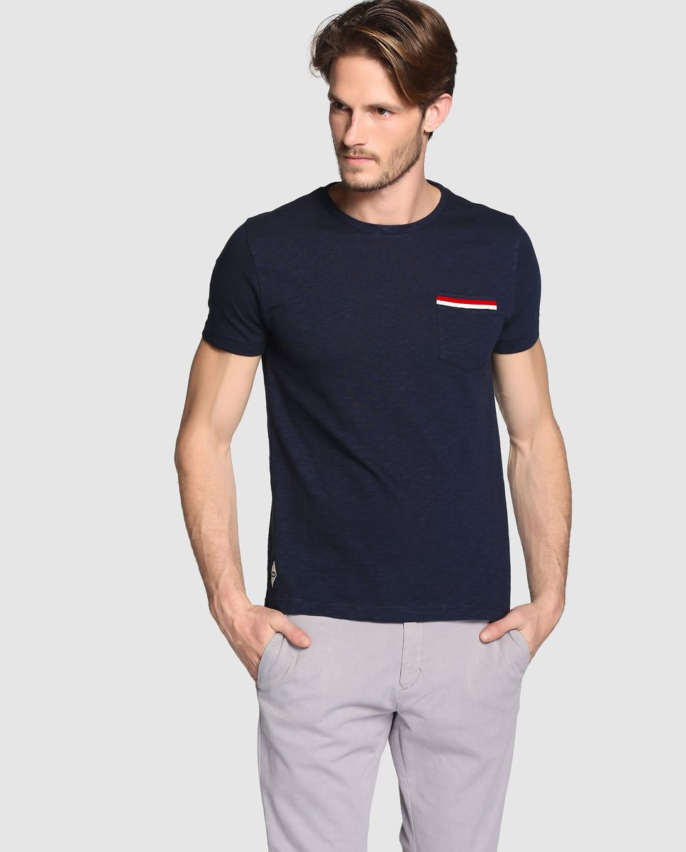 86bc858401531 Camiseta de hombre Tommy Hilfiger azul de manga corta · Tommy Hilfiger ·  Moda · El