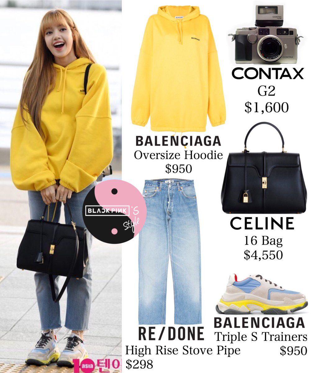 Lisa Lalisa Manoban Lisa Blackpink Airport fashion outfit
