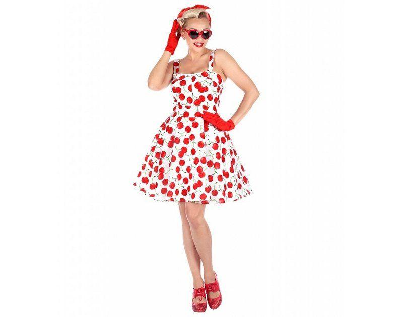 50s Kleid mit Kirschen für Damen | Mode über 50, Kleider ...
