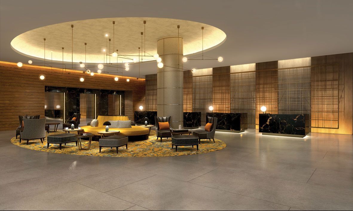 Hilton London Bankside interior design hotel design