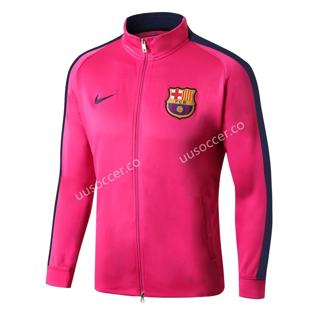 ae1019b7f uusoccer 2017-18 Barcelona Pink-815 Long Zip Soccer Jacket Top ...