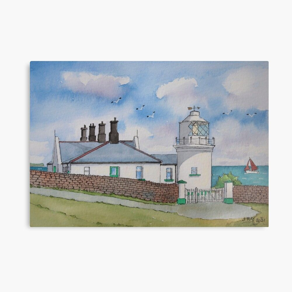 Anvil Point Lighthouse. Metal Print by John Ray