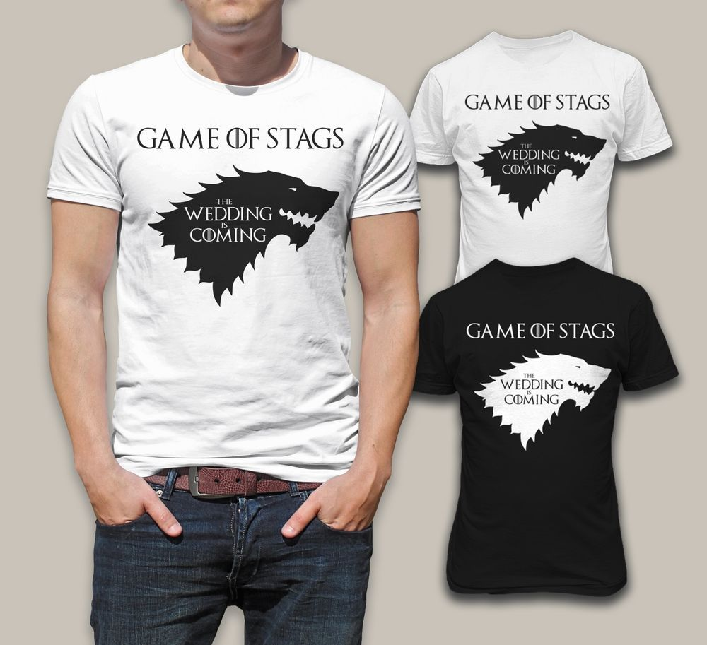 Game Of Stag Wedding Is Coming Funny Stag Party Men T-shirt