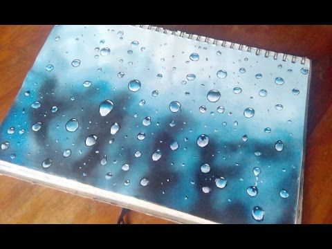 How To Paint Water Drops In Acrylics  Water Drops On Glass   YouTube.  PeindrePaysagesComment Peindre Lu0027eauPeintures Hyper ...