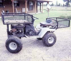 FARM SHOW - Low-Cost 4-Wheeler Made From Old Riding Mower OR