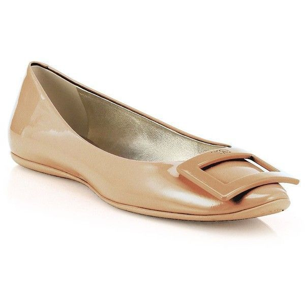 8cbb00b2faa0 Roger Vivier Gommette Patent Leather Flats ( 550) ❤ liked on Polyvore  featuring shoes