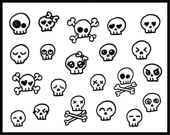 Skull Clipart Cute Skull Candy Skulls Skullcandy Clipart Etsy Clip Art Candy Skulls Skull Drawing