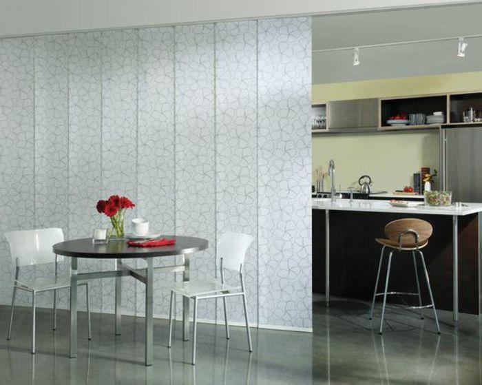 4offene küche trennen plissee runder esstisch rosen weiße - offene kuche wohnzimmer abtrennen