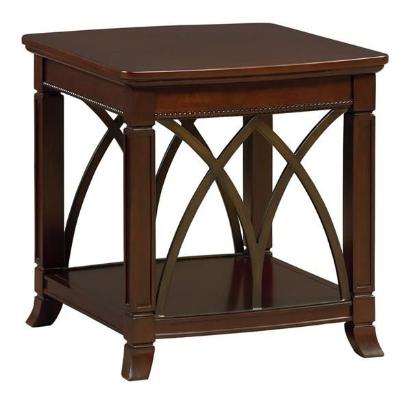 Best Abbey Traditional Cherry Wood Square End Table Standard 640 x 480